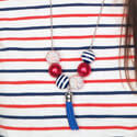 Patriotic Bead and Chain Necklace