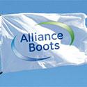 Custom corporate logo flag for Alliance Boots