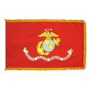 Marine Corps Fringed Flag with Pole Hem