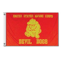 Marine Bull Dog Flag, AMARIBD35