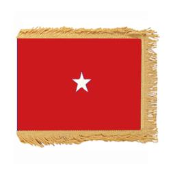 Marine Corps Brigadier General Flag with Pole Hem and Fringe, AMARISTAR158PHF