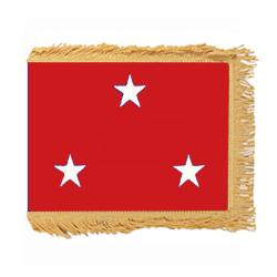 Marine Corps Lt. General Flag with Pole Hem and Fringe, AMARISTAR335PHF