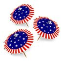 Patriotic Jumbo Umbrella Picks, AMSCAN409731