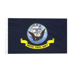 Navy Flag with Pole Hem, ANAVY35PH