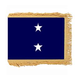 Navy Rear Admiral Upper Half Fringed Flag with Pole Hem, ANAVYSTAR234PHF
