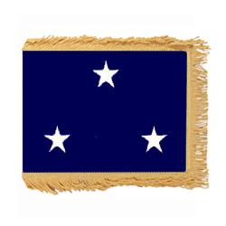 Navy Vice Admiral Fringed Flag with Pole Hem, ANAVYSTAR334PHF