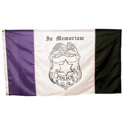 Police mourning flag, APOLICEMOURN35
