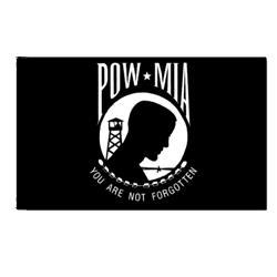 POwithMIA Flag with Pole Hem, APOWM35PH