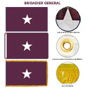 Army Medical Brigadier General Flags