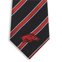 Arkansas Razorbacks Woven Poly Striped Tie, ATIE6224