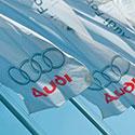 Custom flags for Audi dealer