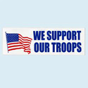 We Support Our Troops Bumpersticker, AWBM073