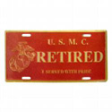 U.S. Marine Retired License Plate, AWLP053