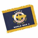 World War II Commemorative Flag with Pole Hem & Fringe, AWORL34PHF