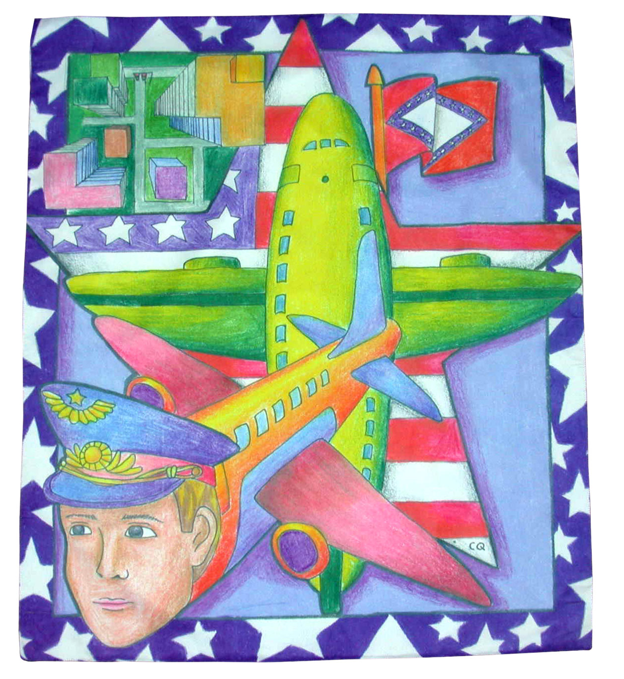 Dye-Sublimation banner. This one hangs in the Bill and Hillary Clinton National Airport.
