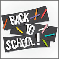 Back-to-School banners & flags for home / garden / classroom