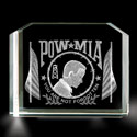 POwithMIA 3-d Etching Paperweight, BIT3765