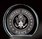United States Army 3D Laser Etched Crystal, BIT37817926