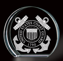 Coast Guard 3-D Etching Paperweight, BIT3786