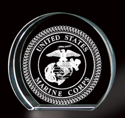 Marine Corps 3-D Etching Paperweight, BIT3790