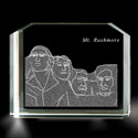 Mount Rushmore 3D Laser Etched Crystal, BIT96853836