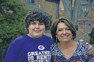 A Life Saved: Teena Webster with kidney recipient, Austin Taylor.