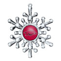 Arkansas Razorbacks Snowflake Ornament, BOBR350235