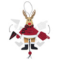 Arkansas Razorbacks Wooden Cheer Ornament, BOBR383069