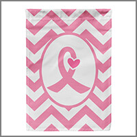 Pink Ribbon & Breast Cancer Awareness Flags, Banners, & Decorations