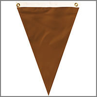 Single Pennants with Browns & Creams