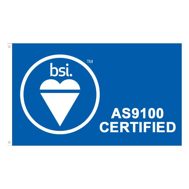 BSI AS9100 Certified Flag