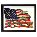 American Flag Framed 3D Collage Art, CANYS375