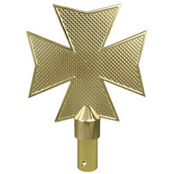 Maltese Cross Ornament with Ferrule, CCROSMC1