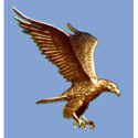 Copper With Gold Leaf Eagle Ornament for Ground Set Flagpole