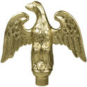 Perched Eagle Threaded Ornament, CEAGL7GFNSF