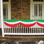 Red White and Green Christmas Bunting