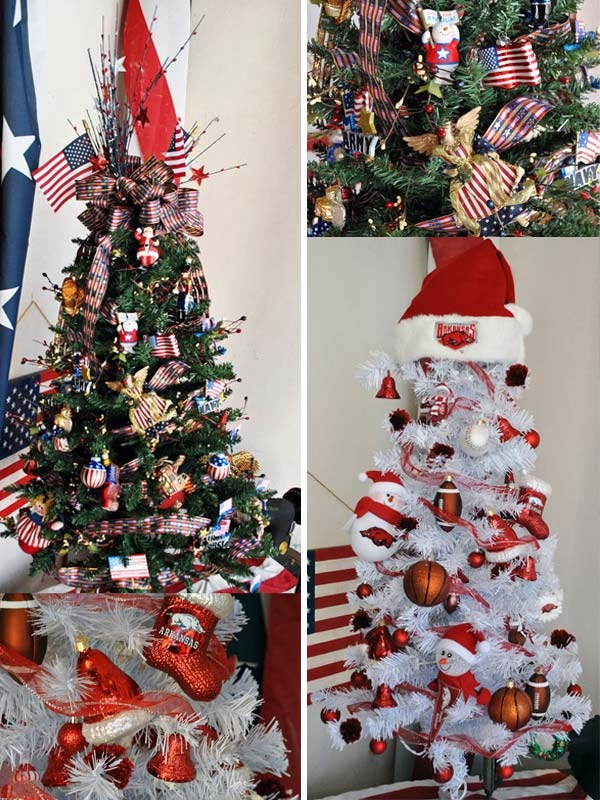 ... FlagandBanner Patriotic and Razorback Trees from KATV Good Morning Arkansas segment