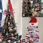 FlagandBanner Patriotic and Razorback Trees from KATV Good Morning Arkansas segment