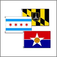 City & District Flags