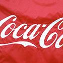 Coca-Cola corporate logo flag