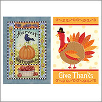 Halloween & Thanksgiving Banners and Flags for home and garden