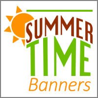 summer banners and flags for home or garden