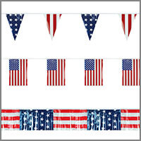 American Flag String Pennant Banners