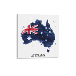 Australia Flag Watercolor Canvas Print, CPAUST12