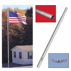 Middle Replacement Section for Sectional Flagpoles, CSECT212LWR
