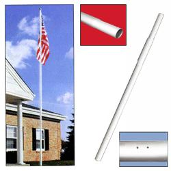 Middle Replacement Shaft for Sectional Flagpoles, CSECTSWDWH