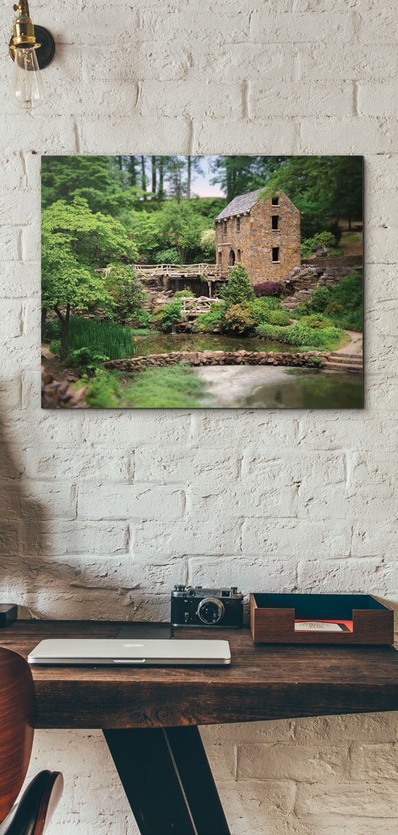 The Old Mill print on a wall