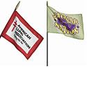 Minature stick flags
