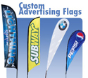 Custom Feather Flags Tear Drop Flags Wave Flags and Blade Flags
