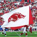 Custom spirit flag for the Arkansas Razorbacks